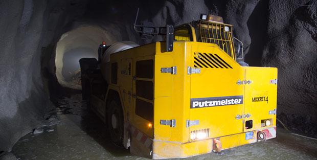 La logística del shotcrete en minería subterránea
