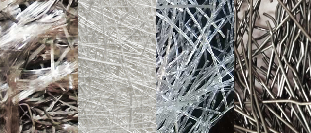 Different types of shotcrete fibers