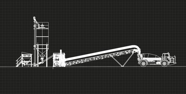 La planta de hormigón en el proceso de shotcrete