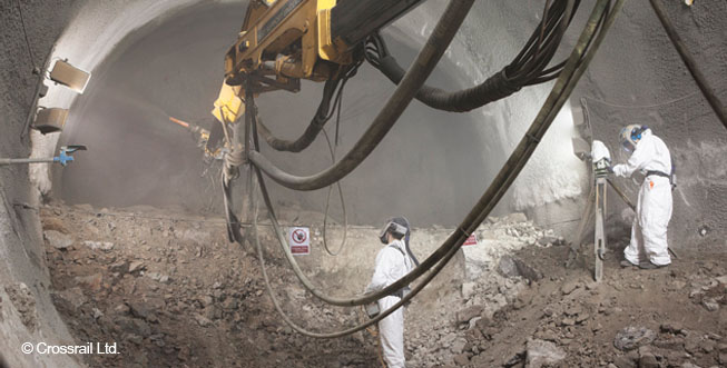 Торкретирование и бетонирование методом распыления (SCL) для создания постоянных конструкций