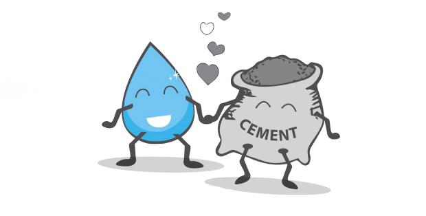 hormigón: relación agua cemento
